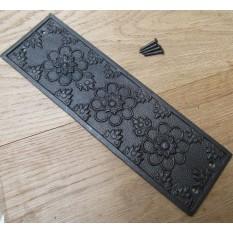 Cast Iron Decorative Ornate Vintage Old Finger Plate ELLERKER