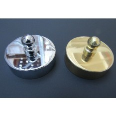 Polished Chrome 54mm Large end Cap