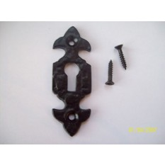 BLACK ANTIQUE CAST IRON KEY HOLE ESCUTCHEON COVER