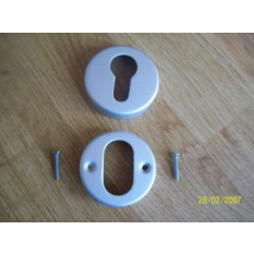 Euro Profile Escutcheon Satin Aluminium