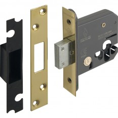 Euro Profile Deadlock 76mm Polished Brass