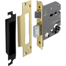 Euro Profile Sashlock 76mm Polished Brass