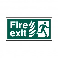 PVC Fire Exit Safety Sign Fire Exit Running Man