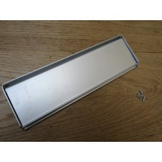 "10"" Face Fix Letter Plate Satin Aluminium"