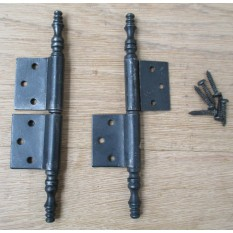 Pair Of Lift Off Finial Cabinet Hinges
