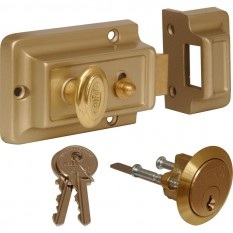 Traditional Champagne Finish Nightlatch Standard