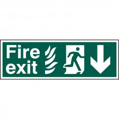 PVC Fire Exit Arrow Sign Running Man Down