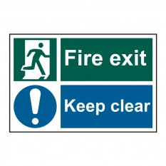 PVC Fire Exit Keep Clear Sign Fire Exit Keep Clear