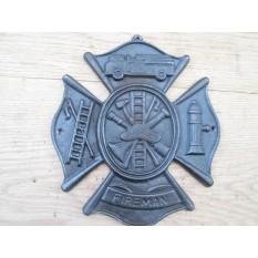 Fireman Emblem Sign