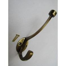 Pack Of 5 Flat Top Retro Coat Hooks Antique Brass