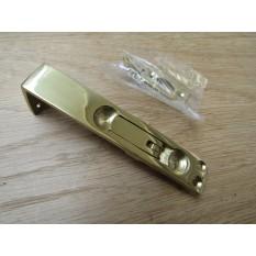 """4"""" Flush Bolt Polished Brass"""