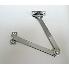Steel Folding Friction Stay Hinge Polished Chrome