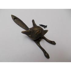 Fox Head Door Knocker Antique Brass