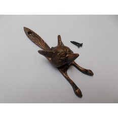 Fox Head Door Knocker Antique Copper