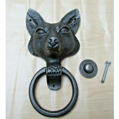 Large Fox Head Door Knocker Antique Iron