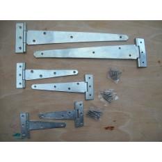Silver zinc plates T hinges