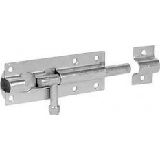 Galvanised tower bolt lock