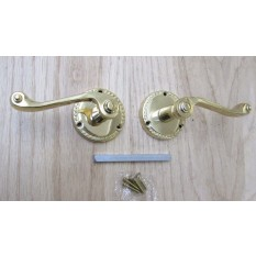 Pair Of Georgian Lever On Rose Door Handles