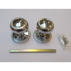 Mortice Door knob Polished Chrome Georgian