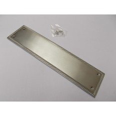 Plain Georgian Satin Chrome Finger Plate
