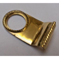 Door Cylinder Pull Front Door Keyhole Cover pull Georgian Polished Brass