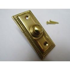 Georgian Bell Push Polished Brass