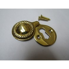 Georgian Covered Escutcheon Polished Brass