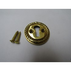 Georgian Open Escutcheon Polished Brass