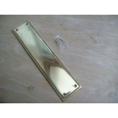 Georgian Rope Ridge Door Finger Plate