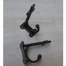 "Jacobean Shelf Bracket With Coat Hook (LARGE) pair 8"""