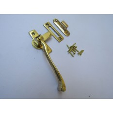 Georgian Hook & Mortice Fastener Polished Brass