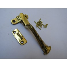 Georgian Wedge Fastener Polished Brass