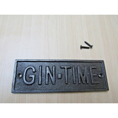 Cast Iron Gin Time Plaque