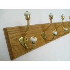 Polished Brass Gloucester Coat Hook Rail