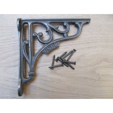 "GNER  Antique Vintage Style Cast Iron Shelf Bracket Wall Mounted 6"""