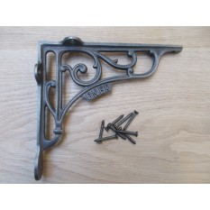 "GNER RAILWAY Antique Vintage Style Cast Iron Shelf Bracket Wall Mounted 7"""
