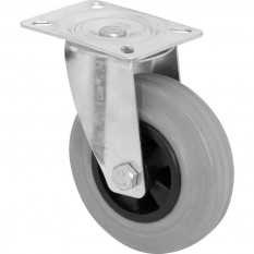 Grey Rubber Wheel 75mm