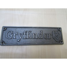 Cast Iron Gryffindor Plaque