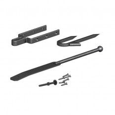 Gatemate Field Gate Fastener set With Staple Catch Black