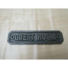 Cast Iron Guest Room Plaque