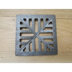 Rustic Cast Iron Gulley Gutter Lid Square Antique Iron 7""