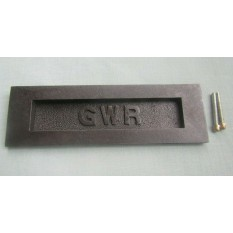 GWR 10'' Letter Plate Antique Iron