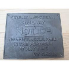 "12"" GWR Platform Sign"