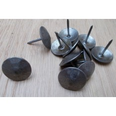 Pack of 10 Door Studs Hammered Steel Antique Iron