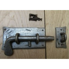 Hand Forged Cottage Slide Bolt Antique Iron