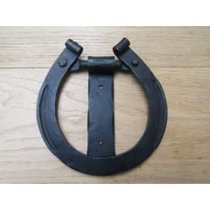 Hand Forged Horse Shoe Door Knocker Black Wax