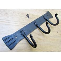 3 Hooks Plain Kitchen Rack Black wax