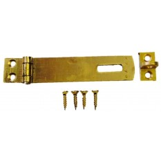 Hasp And Staple 75mm Large Brass