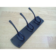 Heavy Duty Iron Hat And Coat Rack in Victorian Black Antique Color