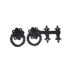 "Ring Latch 6"" Twisted Black Steel"